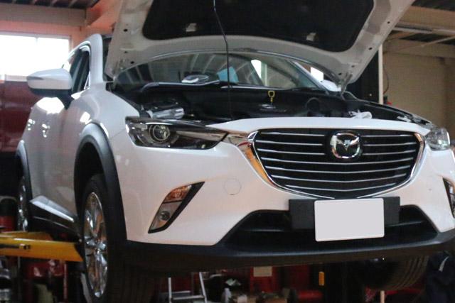 マツダCX-3の車両販売です。整備点検中・・・