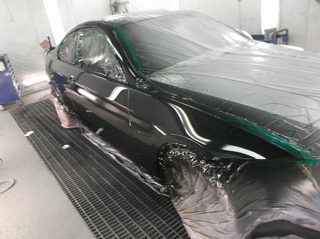 BMW 320i(E92)側面事故修理 塗装作業